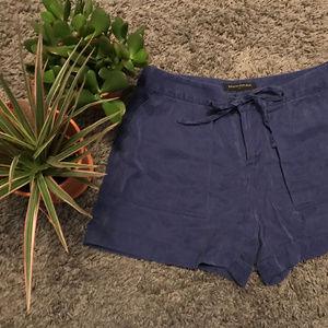 Fun High-Waisted Blue Utility Shorts